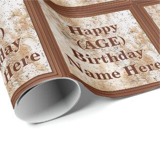 名前入りな誕生日の包装紙彼の年齢、名前 ラッピングペーパー