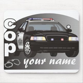 名前入りな警察官 マウスパッド