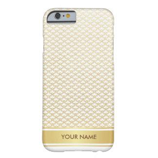 名前入りな貝の王室ので魅力的なホワイトゴールドの箱 BARELY THERE iPhone 6 ケース