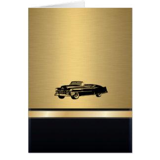 名前入りな贅沢で素晴らしい金ヴィンテージの古い車 カード