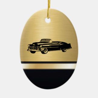 名前入りな贅沢な金ヴィンテージの上品で古い車 セラミックオーナメント