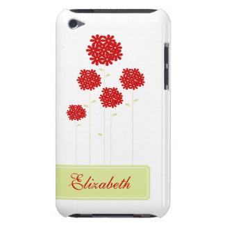 名前入りな赤い花 Case-Mate iPod TOUCH ケース