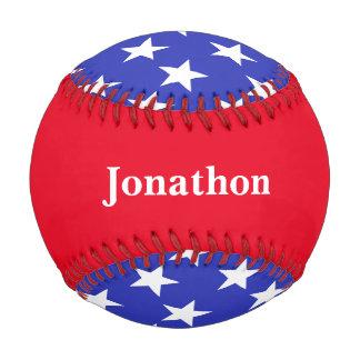 名前入りな赤く、白いおよびブルースターの野球 ベースボール