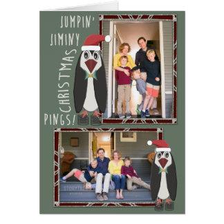 名前入りな跳躍のJiminyのクリスマスの写真- カード