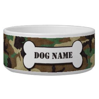 名前入りな軍隊の森林カムフラージュ犬ボール