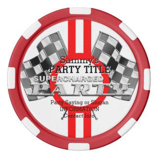 名前入りな過給された性能のパーティー ポーカーチップ