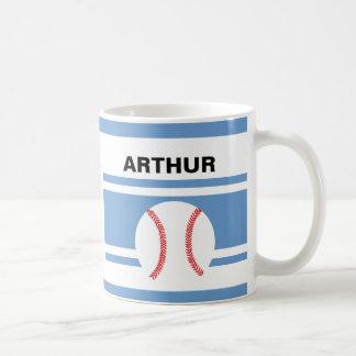 名前入りな野球のコーヒー・マグ コーヒーマグカップ
