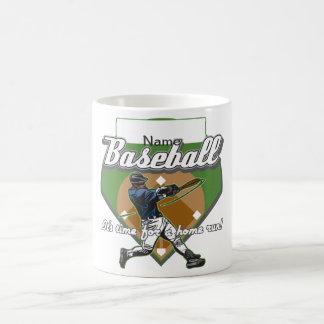 名前入りな野球の家の操業 コーヒーマグカップ