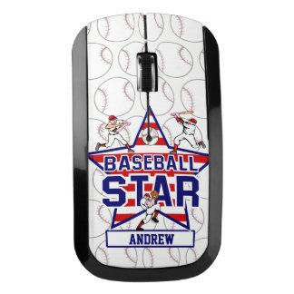 名前入りな野球の星条旗 ワイヤレスマウス