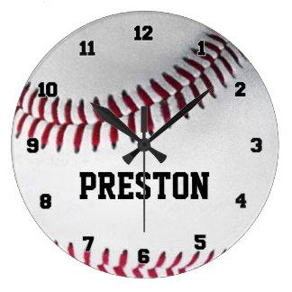 名前入りな野球の時計 ラージ壁時計