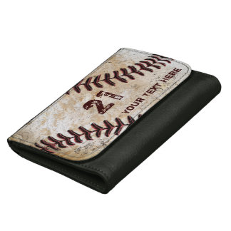名前入りな野球の革財布名前、数