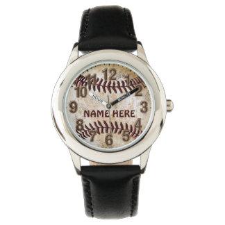 名前入りな野球は子供へを見ます 腕時計