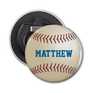名前入りな野球 ボタン型 栓抜