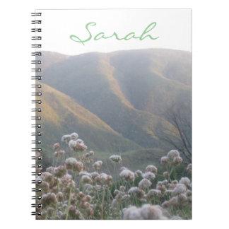 名前入りな野生の花 ノートブック