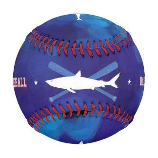 名前入りな野生の鮫の青 野球ボール
