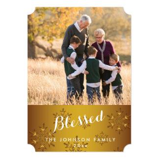 名前入りな金ゴールドによって賛美されるクリスマスカードのチケット カード