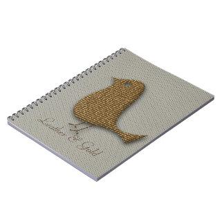 名前入りな金革質のノート ノートブック