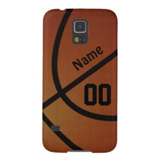 名前入りな銀河系S5のバスケットボールの電話箱 GALAXY S5 ケース