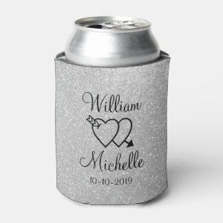 名前入りな銀製のグリッターの結婚式はクーラーできます 缶クーラー