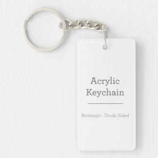名前入りな長方形のKeychain キーホルダー