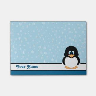 名前入りな雪片のペンギンの後it®ノート ポストイット
