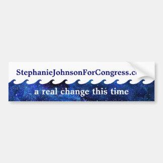 名前入りな青い波の選挙運動2018年 バンパーステッカー
