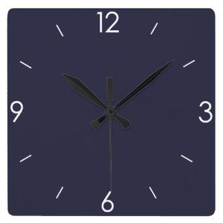 名前入りな青い黒板 スクエア壁時計