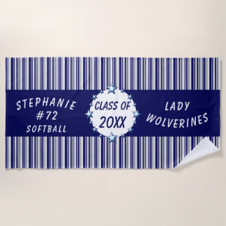 Blue and White School Graduation Personalized