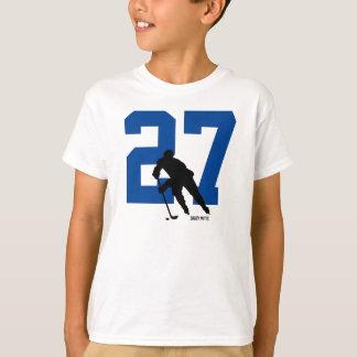 名前入りな青年ホッケー選手数 Tシャツ