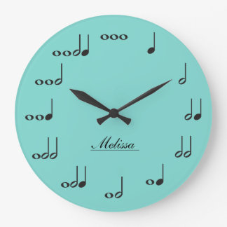 名前入りな音楽ノート ラージ壁時計