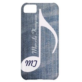 名前入りな音符の動揺してなジーンズ iPhone5Cケース