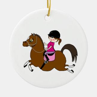 名前入りな馬およびライダーの馬場馬術の付属品 セラミックオーナメント