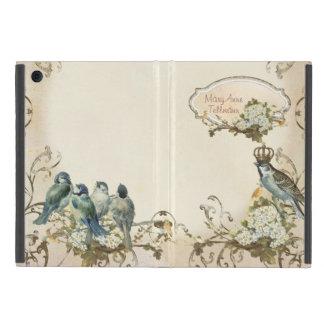 名前入りな魅了された森林鳥の鳩の渦巻 iPad MINI ケース