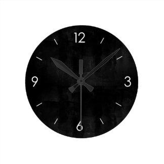 名前入りな黒い黒板 ラウンド壁時計