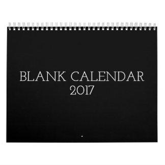 名前入りな黒のブランクのカレンダー2017年 カレンダー