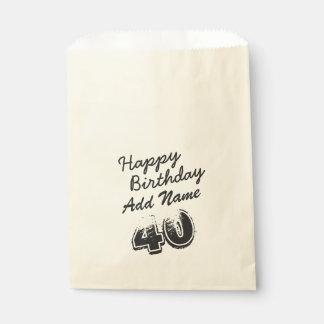名前入りな黒の第40誕生日 フェイバーバッグ