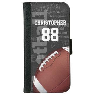 名前入りな黒板のアメリカン・フットボール iPhone 6/6S ウォレットケース