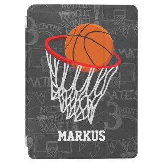 名前入りな黒板のバスケットボールおよびたが iPad AIR カバー