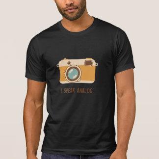 名前入りな35mmのカメラ tシャツ