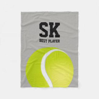 名前入りな|のテニスのベストプレーヤー フリースブランケット
