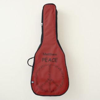 """名前入りな""""平和"""" ギターケース"""