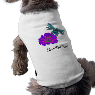 名前入りな《植物》百日草のかわいいトンボ ペット服