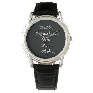 """名前入りな""""花嫁の父""""の革腕時計 腕時計"""