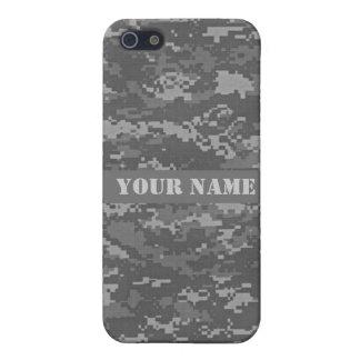 名前入りなACUデジタルの迷彩柄のiPhone 5/5Sの場合 iPhone 5 Case