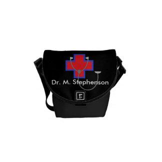 名前入りなBag Mini博士のメッセンジャーバッグ メッセンジャーバッグ