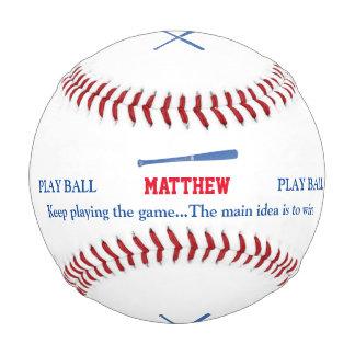 名前入りなbaseballerのこうもりおよび演劇 野球ボール