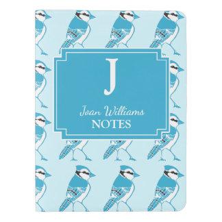 名前入りなBlue Jaysはモノグラムのノートを印刷します エクストララージMoleskineノートブック