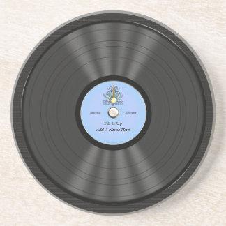名前入りなBluegrassのレコード コースター