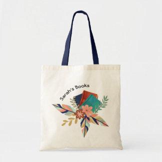 名前入りなBohoの本の花束 トートバッグ