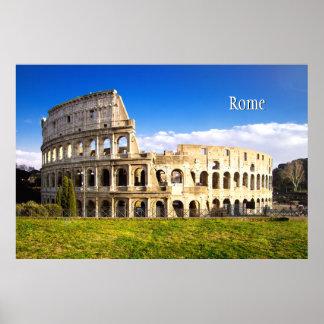 名前入りなColosseumのローマの円形劇場 ポスター